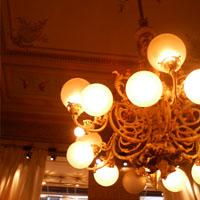 デメルのお店の天井